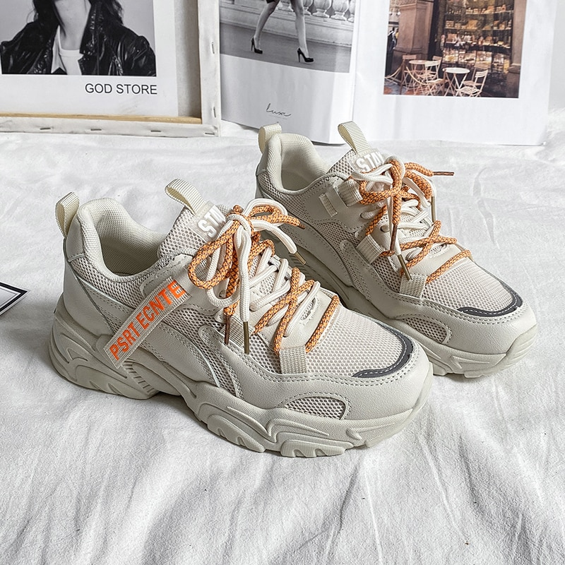 Platform Shoes Women Chunky Sneakers 2021 Fashion Spring Autumn Breathable Comfortable Running Casua