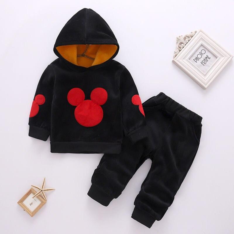 Girls Clothing Sets Mickey Children Clothes Set Cotton Coat Long Sleeve Sweatsuit + Pants Baby 2Pcs Suit Kids Clothes Girls 2-6Y