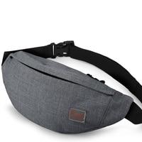 сумка поясная Поясная повседневная сумка-унисекс TINYAT, холщовая сумка на пояс для хранения денег и телефона, функциональная набедренная сум...