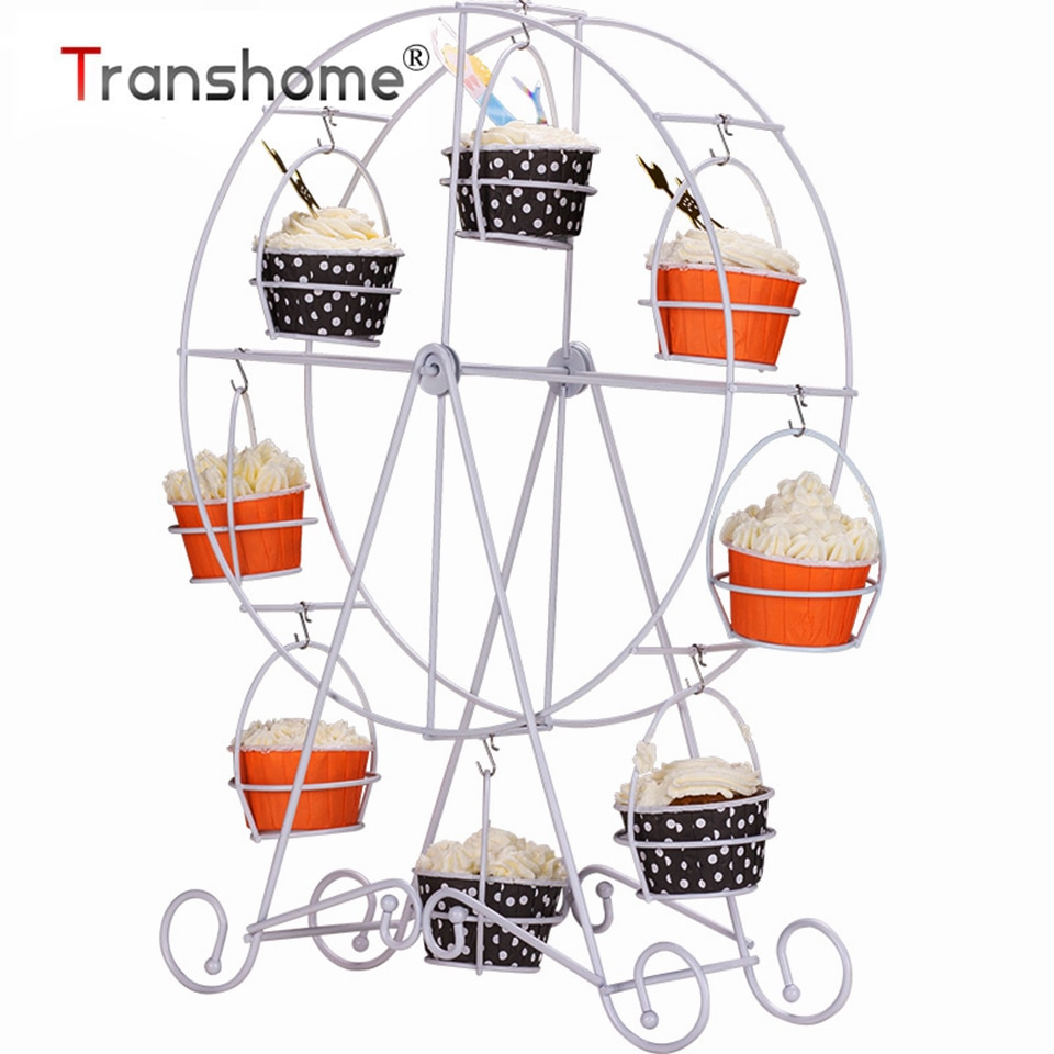 Transhome-Soporte de noria de Metal para magdalenas, soporte de exhibición para pasteles,...