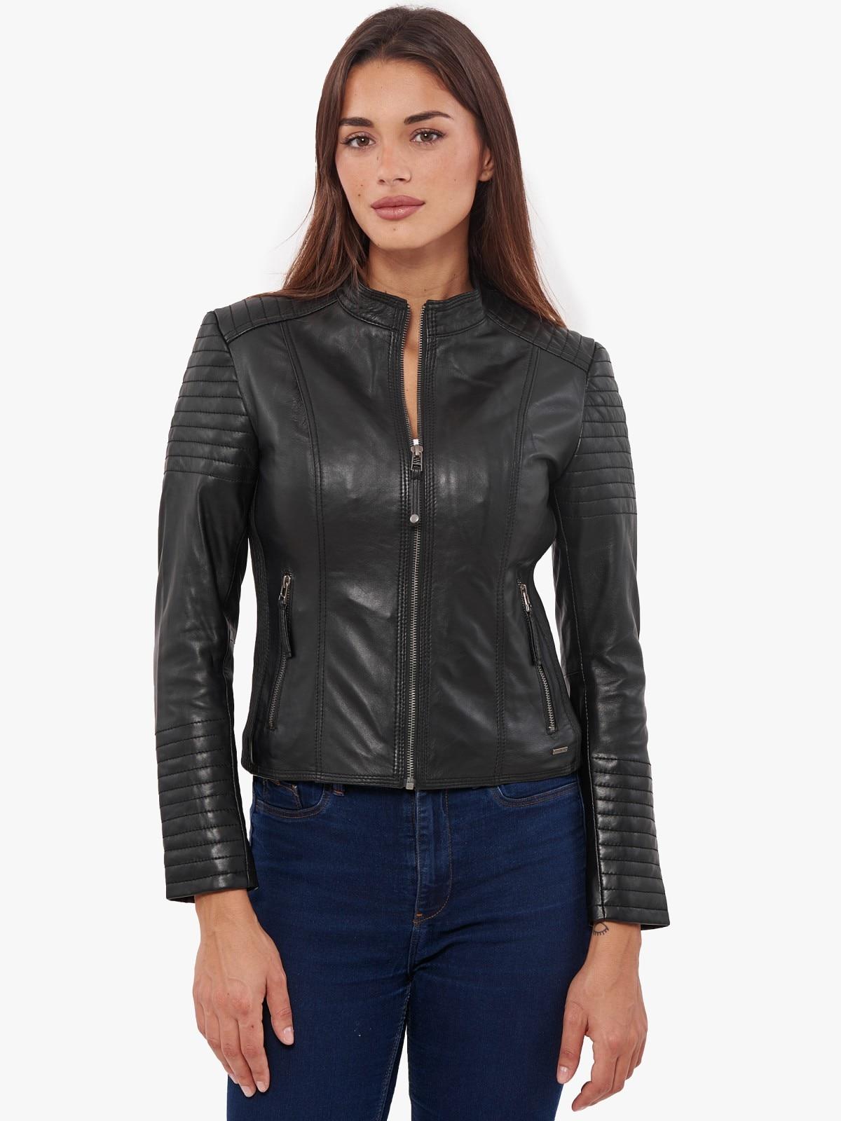 VAINAS European Brand  Women Genuine leather jacket for women Real sheep Motorcycle jackets Biker Queen