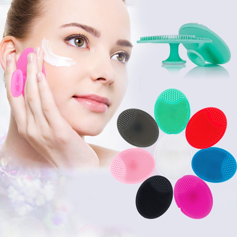 Silicone Face Cleansing Brush Mini Massage Waterproof Facial Cleansing Tool Soft Deep Face Pore Clea