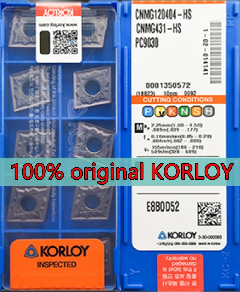 CNMG120404 CNMG120408 HM HS HA GS PC9030 100% original KORLOY carbide insert Processing stainless steel