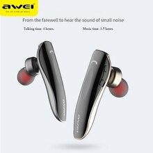 Беспроводные Bluetooth наушники AWEI N1, одиночные мини наушники вкладыши, беспроводные наушники для телефона, Xiaomi, Huawei, смартфона