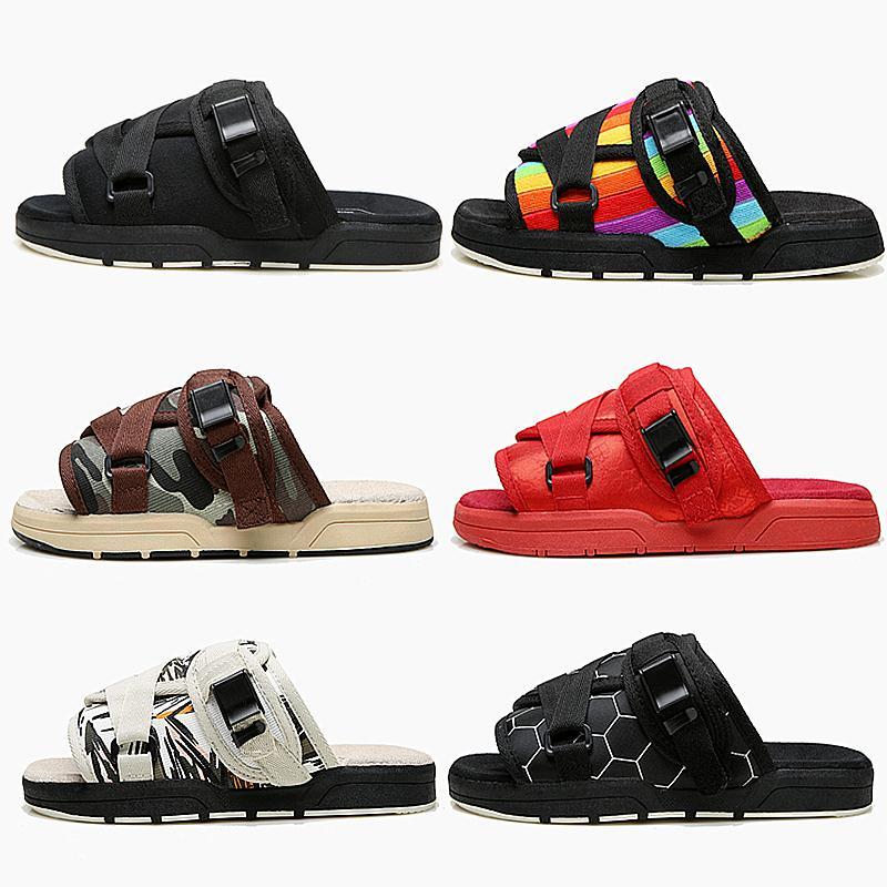 Zapatillas de hombre, zapatos de playa con suela gruesa a la moda, sandalias informales para parejas, calzado de verano antideslizante para exteriores para hombre
