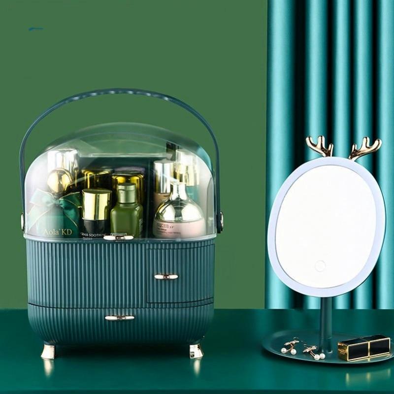 Makeup organizer box, organizer for cosmetics,fashion makeup storage box for skincare,lipstick/jewelry holder,new arrival