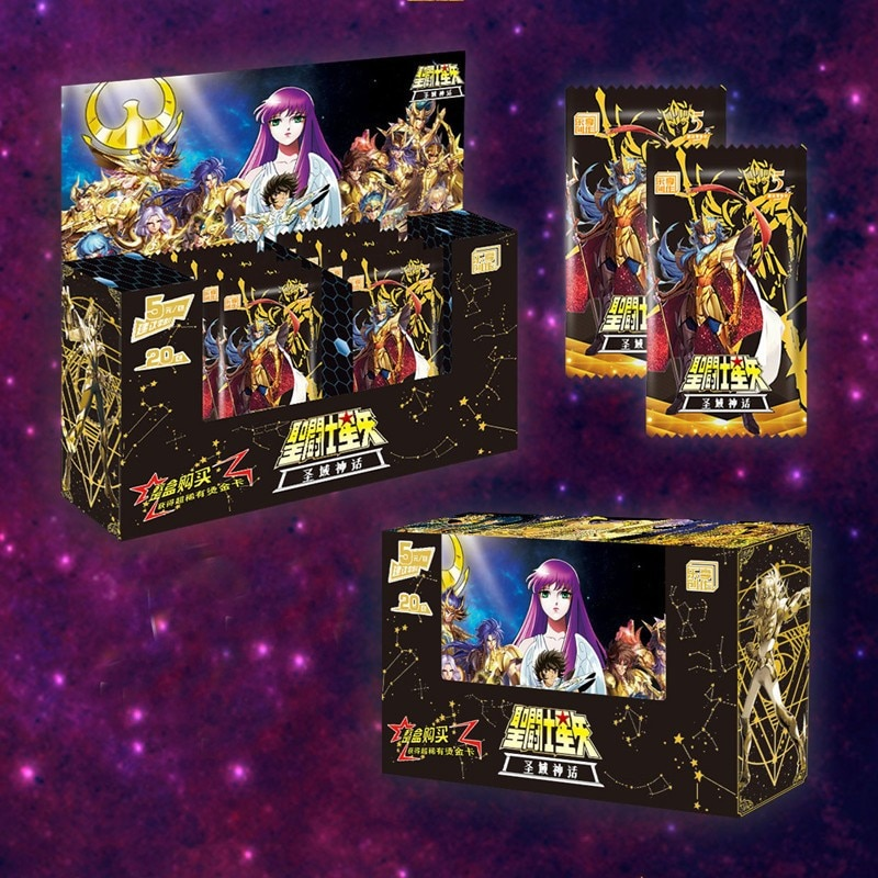 160pcs/set Saint Seiya Golden Hades Redraw Repaint Original Composite Craft Hobby Game Collection Cards Gifts