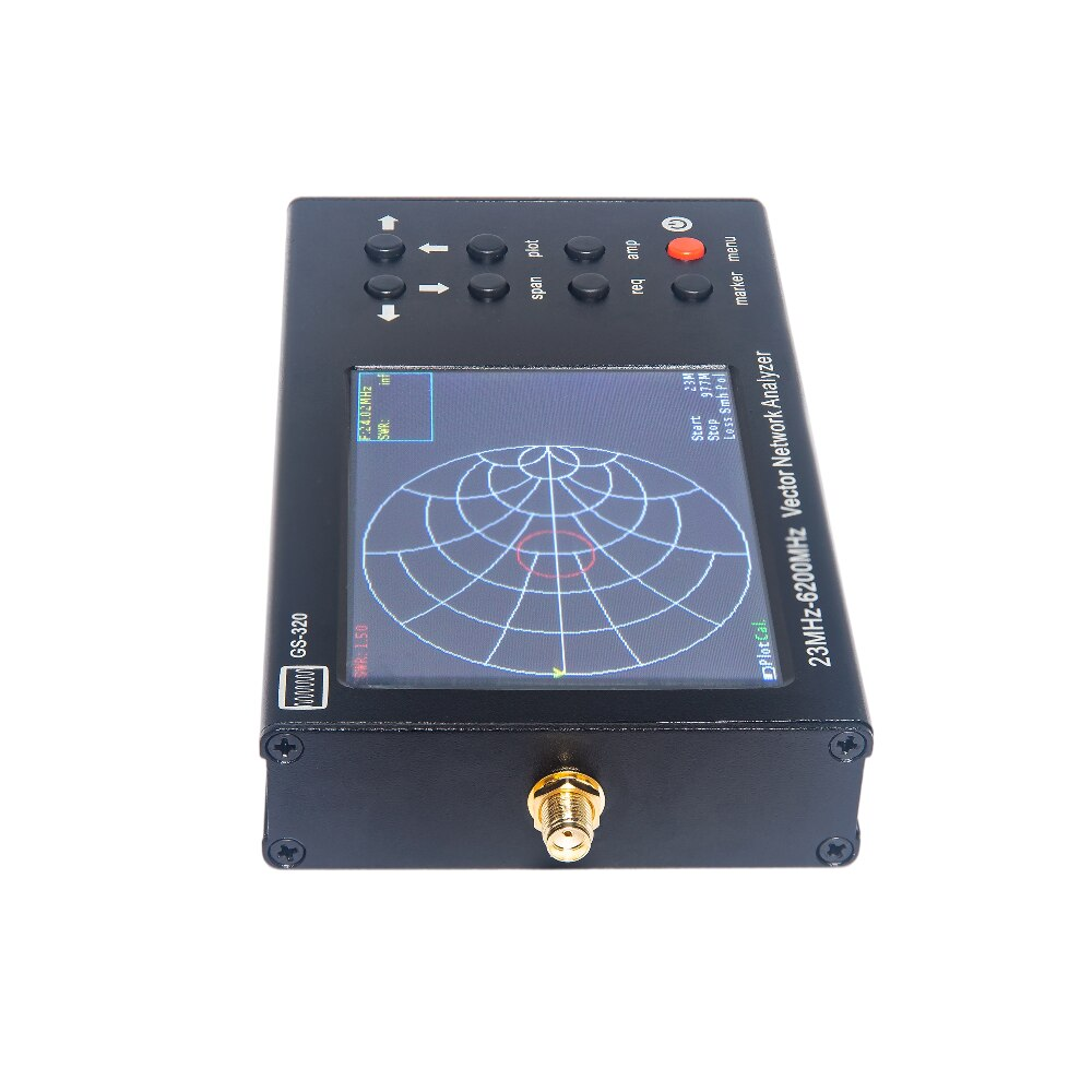 Portable VNA SWR 6G vector network analyzer reflectometer GS-320 23-6200MHz NanoVNA type, Touch screen enlarge