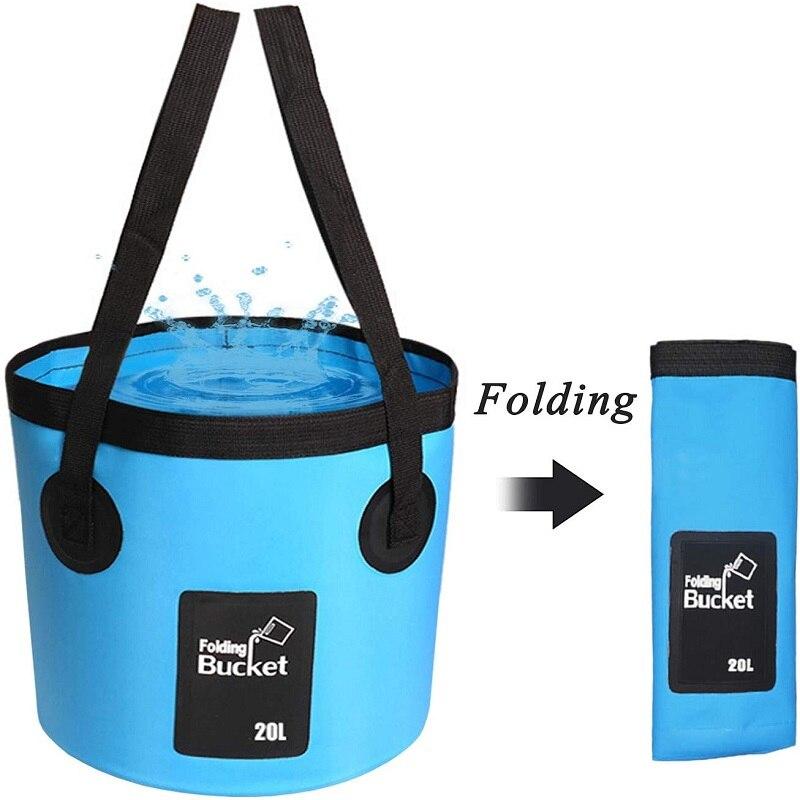 Портативное складное ведро 12 л 20 л, сумка для хранения воды, водонепроницаемая сумка для воды, складное ведро для рыбалки, ведра для кемпинга...
