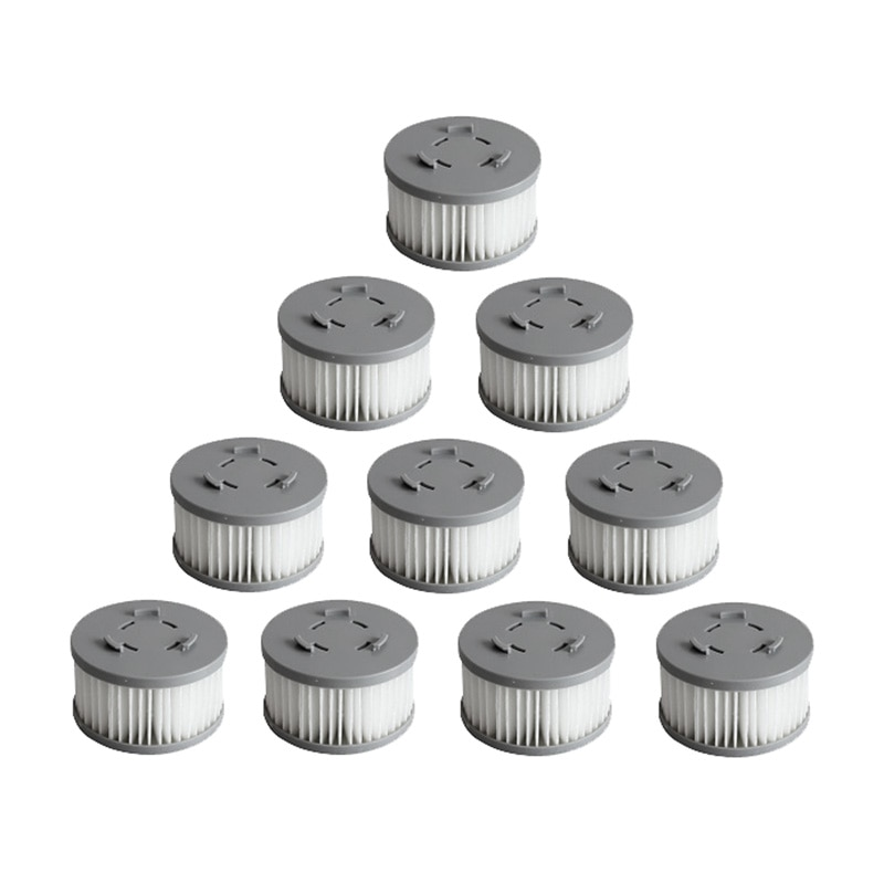 10 قطعة فلتر HEPA ل شاومي جيمي JV85/JV85 برو/H9 برو يده مكنسة كهربائية لاسلكية