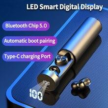 TWS  Bluetooth Earphone 5.0 Wireless Stereo HIFI True Wireless In-ear Earbuds Sport Gaming Earphones