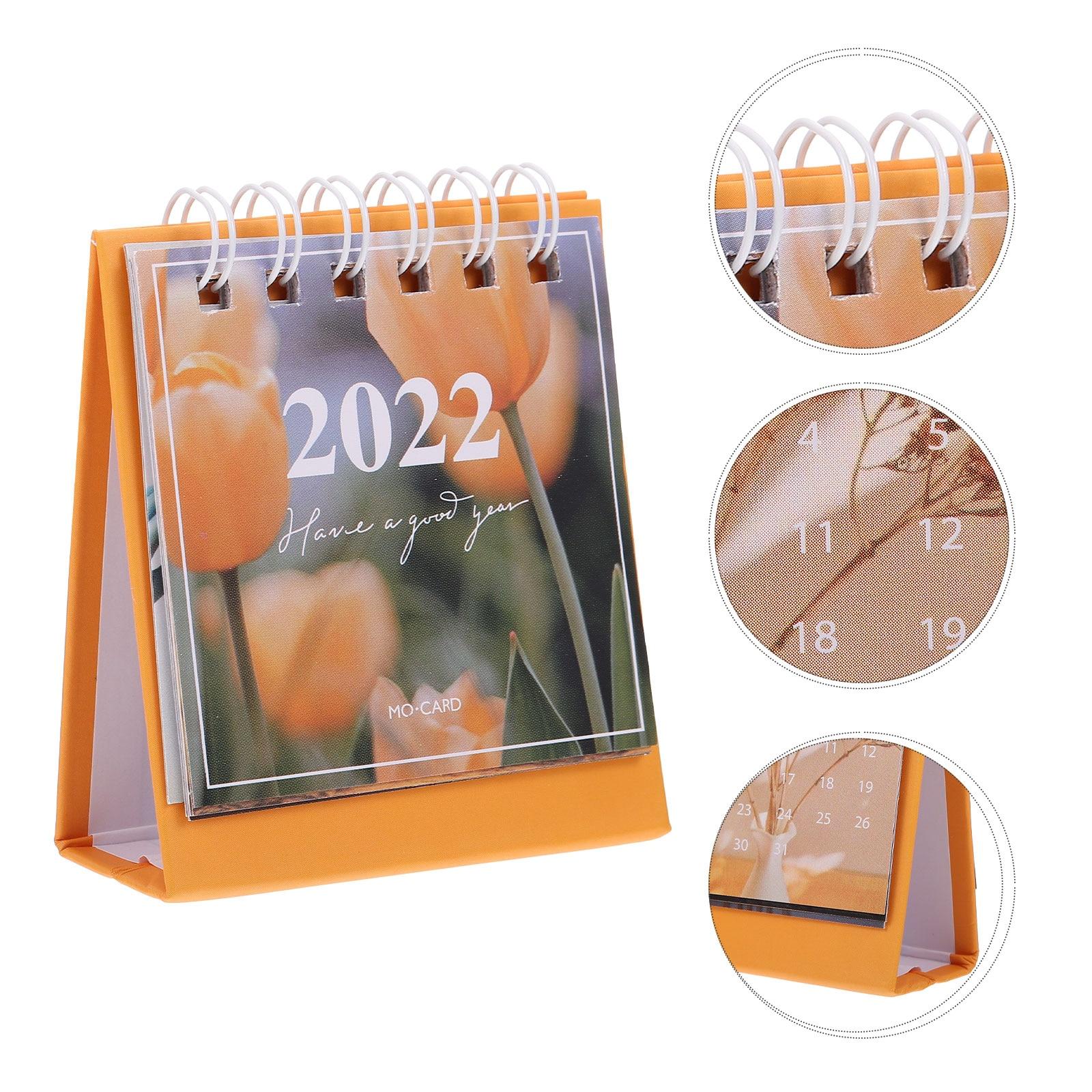 2 шт., маленькие 2022 календарей, компактные настольные 2022 календарей, декоративные календари