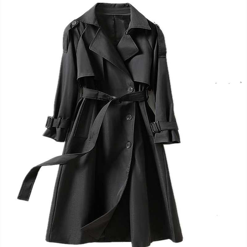 Women's Trench Coat 2021 Spring New British Style Mid-Length Double-Breasted Fashion Clothing Jacket