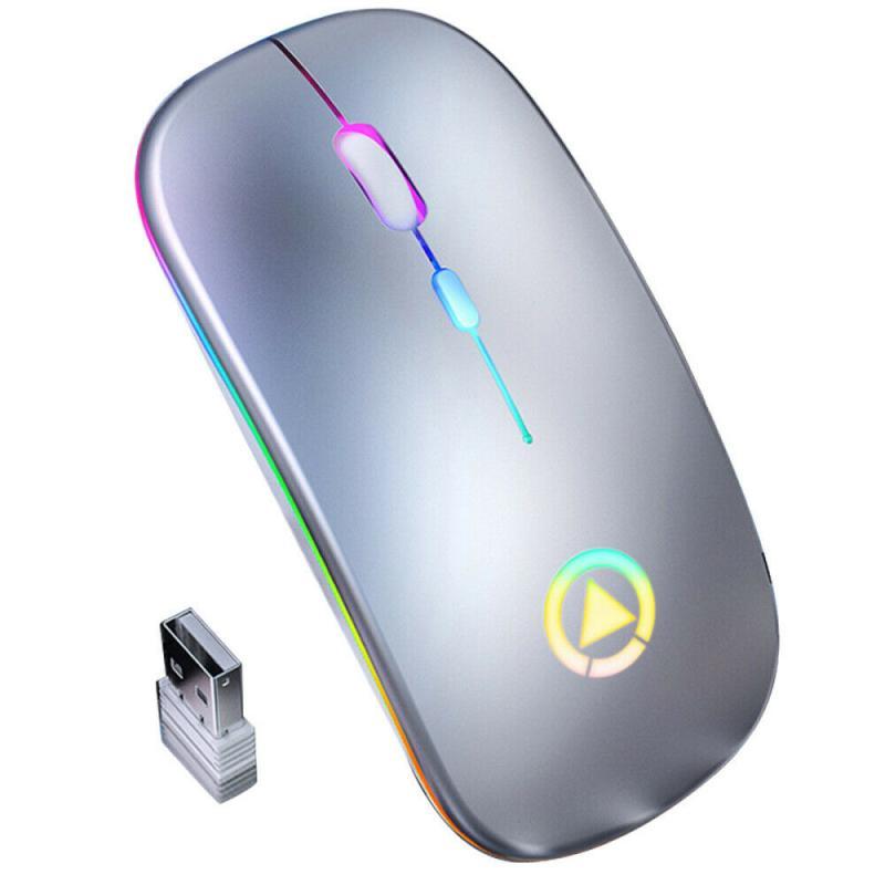 Ratón inalámbrico recargable M103 de 2,4G, ratón silencioso ultrafino, libreta silenciosa de oficina, ratón optoelectrónico para uso en el hogar y la Oficina, 5,0