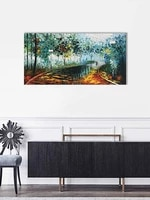 abstract oil paintings romantic rainy 100 hand painted modern canvas knife painting artwork for home walls painting decoration
