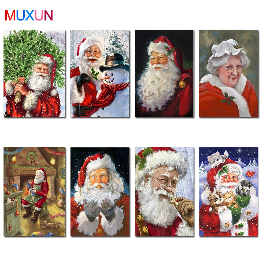 5D Diy Full Square/Round Drill Diamond Painting Santa Claus 3D Diamond Embroidery Cross Stitch Mosaic Home Decor Art Gift  Lx779
