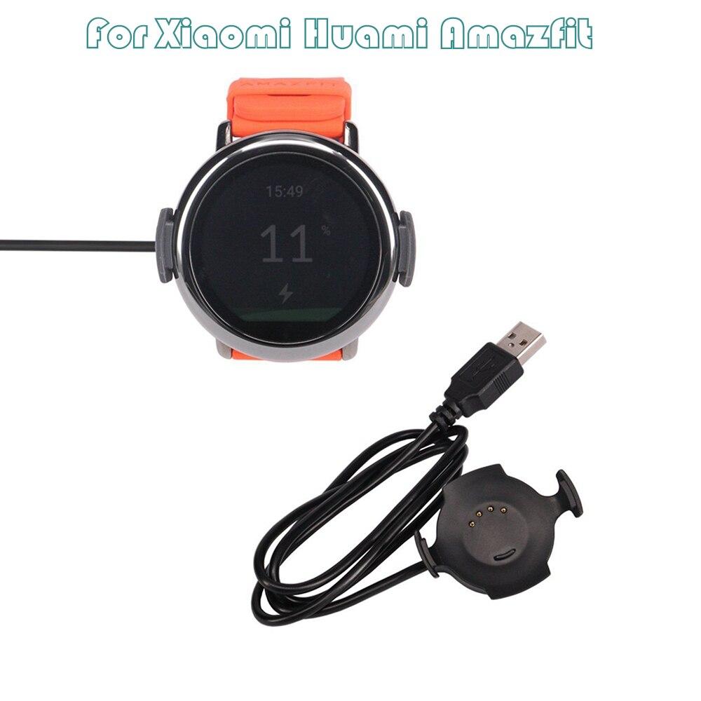 Accesorios Smartwatch 1m USB cargador rápido base de carga para Xiaomi Huami Amazfit Pace para Mi band xiomi Watch
