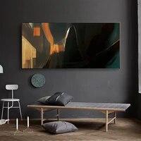Toile de peinture a lhuile couleur foncee  art abstrait  bar  salon  couloir  bureau  etude  decoration murale de la maison