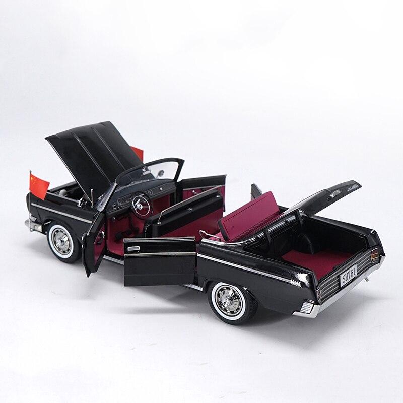 Coche de aleación fundida a escala 1/18 1966 SH761 convertible de metal modelo descapotable colección de regalos para niños y adultos pantalla interior