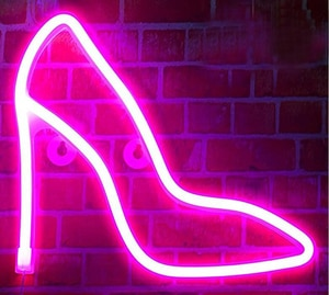 """High-heeled Shoes Neon Sign Custom Handmade Real Glass Tube Bar Store Party Home Aesthetic Room Decor Display Light 14""""X 14"""""""