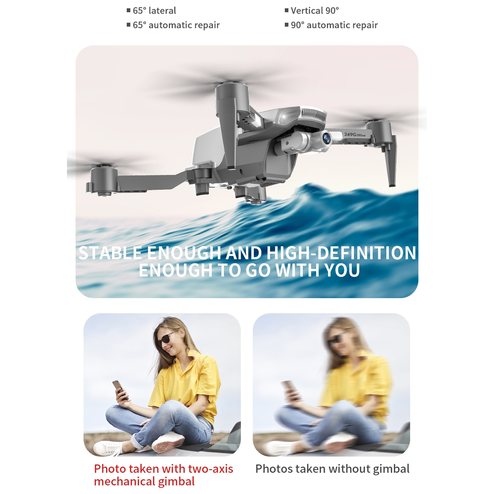 Folding Four-axis Drone GPS 4K High-definition Camera Aircraft Remote Control Fold Drone GPS 4K High-definition Camera Aircraft enlarge