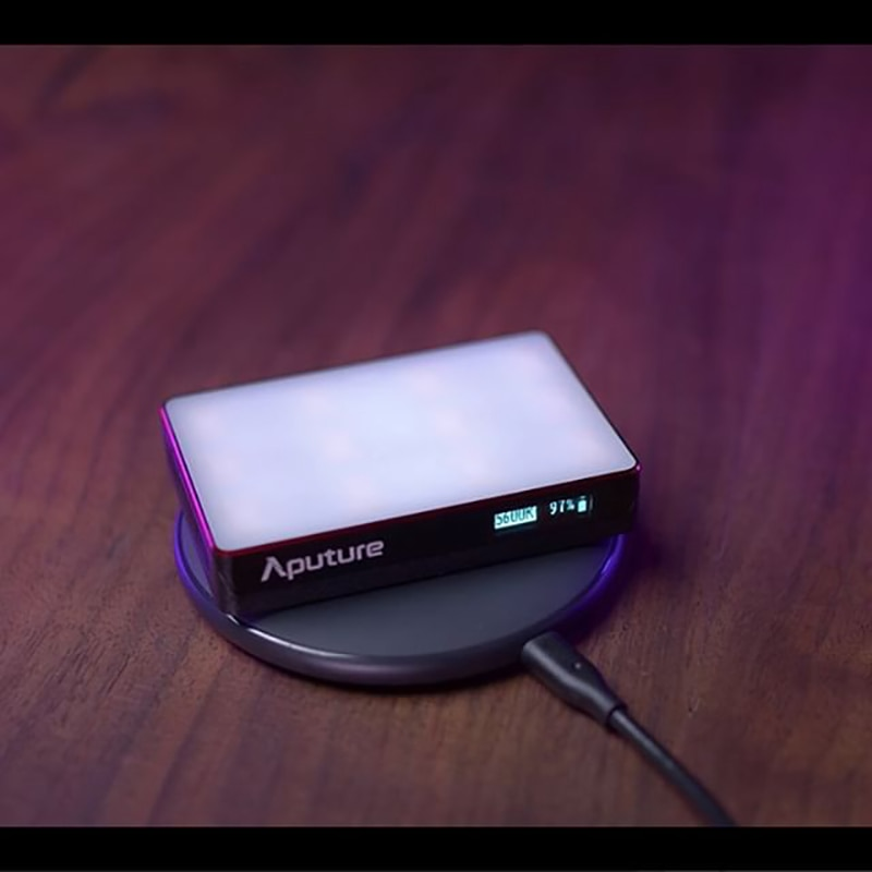 Aputure AL-MC Photography Lighting Portable LED Light 3200K-6500K RGB Lighting Video Light Selfie For Canon Nikon Sony Studio