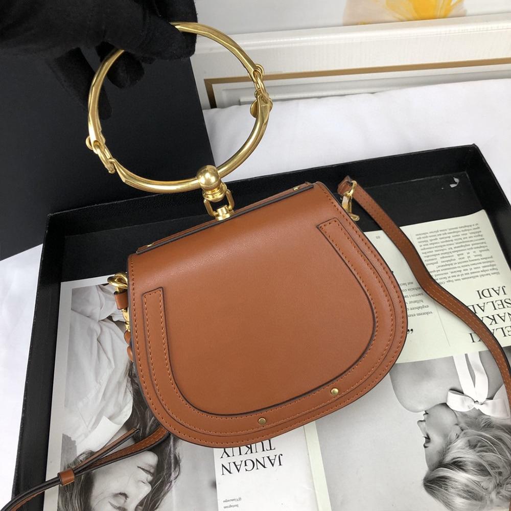 Marca de luxo bolsa feminina sacos designer marca sela saco couro senhoras crossbody bolsa moda anel bolsa ombro do vintage mão