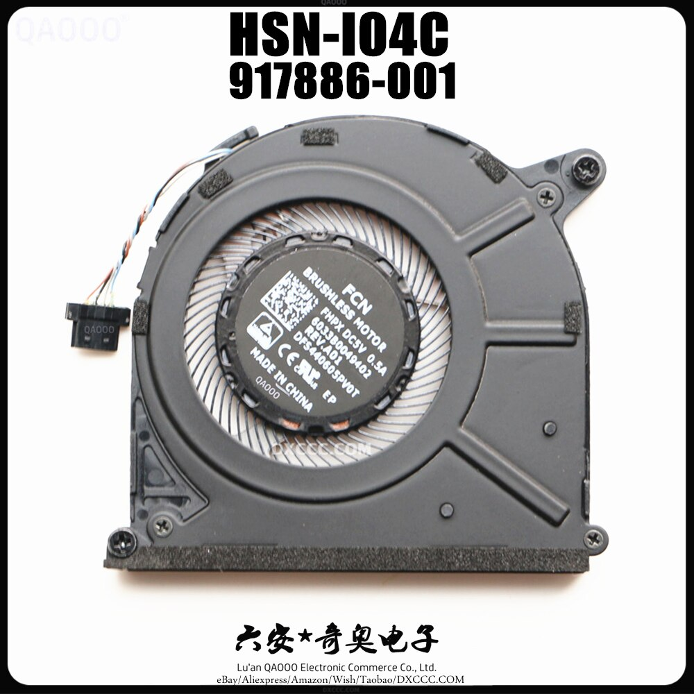 FCN DFS440605PV0T FHPX DC5V 0.5A 6033B0049402 ل HP EliteBook Folio 1030G2 CPU تبريد مروحة HSN-I04C 917886-001
