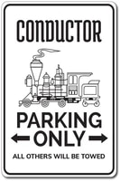 conductor parking tin sign novelty tin sign conductor gift conductor sign