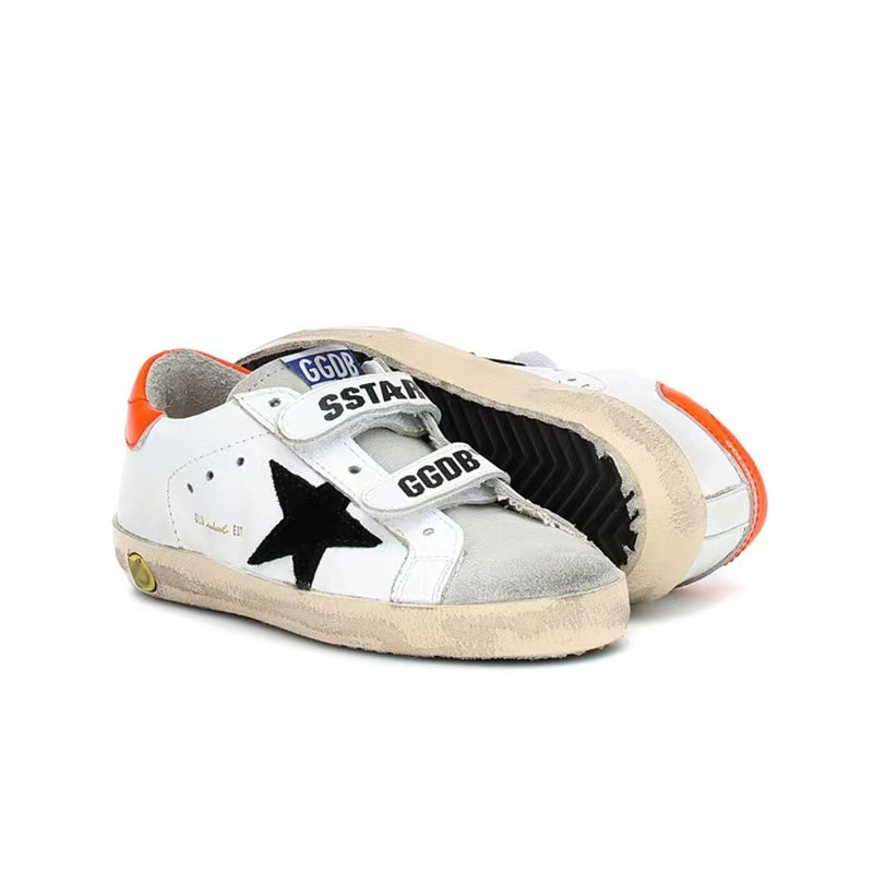 Spring and Summer New Children  First Layer Cowhide Retro Old Small Dirty Shoes for Boys and Girls Non-slip Kids Shoes CS187 enlarge