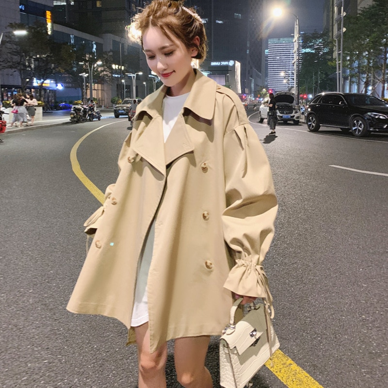 Windbreaker women's new coat women's tide ins autumn female students loose and thin college clothes