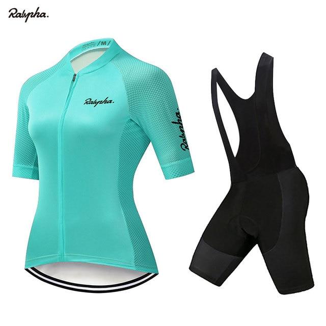 Raphaful-Conjunto de ropa de ciclismo para mujer y camisetas y pantalones cortos...