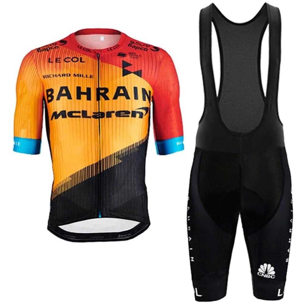 Bahréin Mclaren-traje de Ciclismo, camisetas profesionales para equipo, conjunto de Ropa, Jersey de Ciclismo, conjunto de Ropa, chaqueta, pantalones cortos de babero, conjunto de Ropa para Maillot, 2020