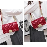 ladies handbags smooth tide brand jelly bag handbags 2021 new messenger bag fashion casual diamond chain small fragrance trend