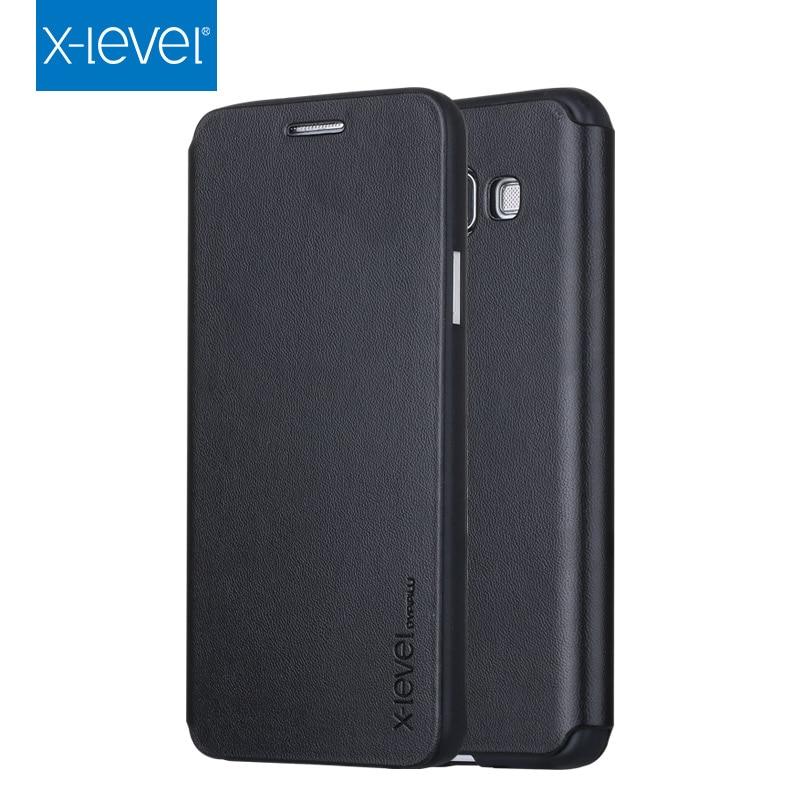 X-Level Флип кожаный чехол для Samsung Galaxy A3 A5 A7 A6 A8 J3 J4 J6 J8 2018 2017 2016 A510 A310 A710 A10 A20 A30 A50 A70 крышка
