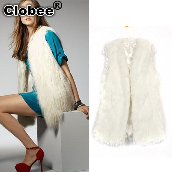 2020 colete de pele feminina Chaleco de piel sintética de zorro de invierno chaleco largo sin mangas de piel de lujo abrigo de talla grande otoño XXXL L632