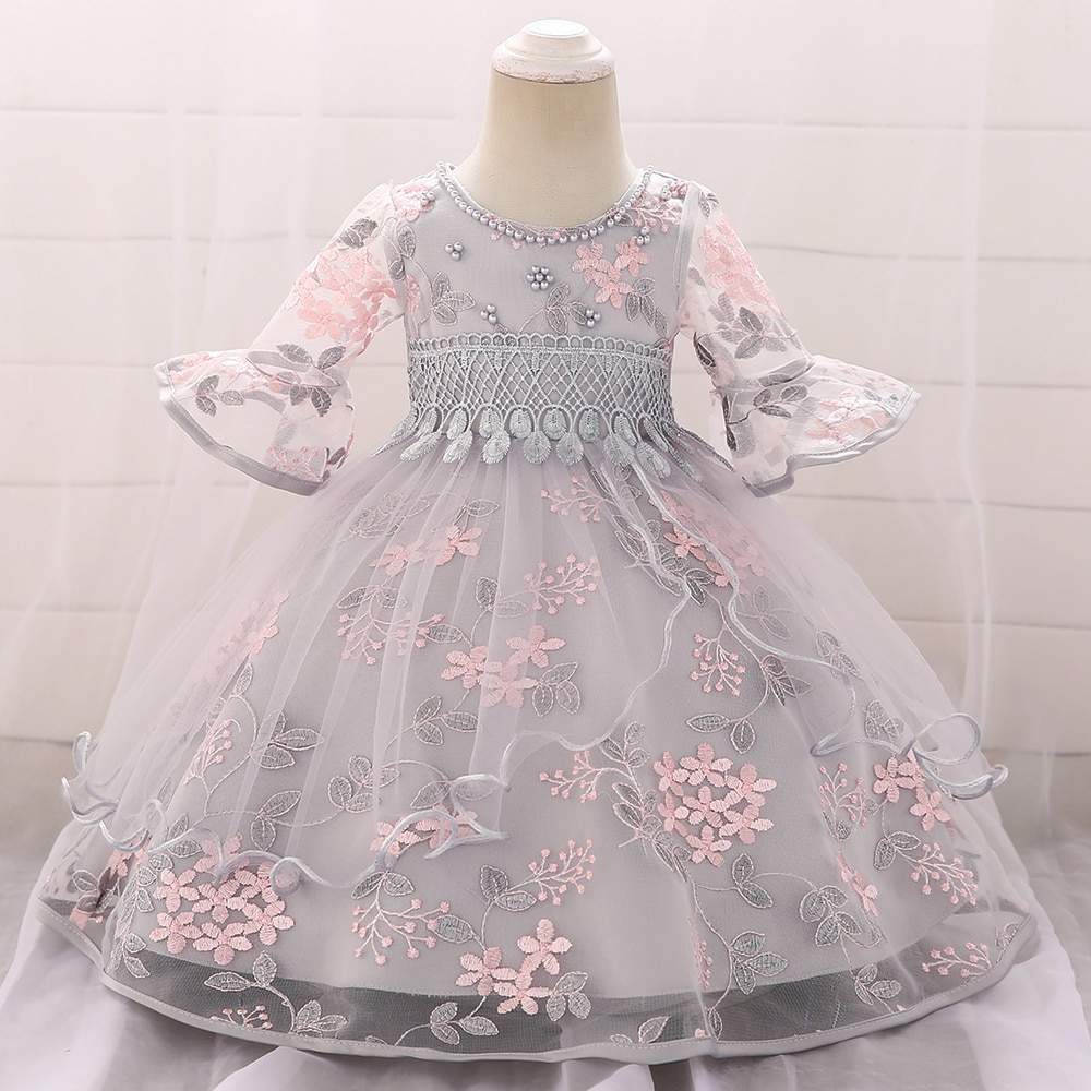 Toddler Baby Girl Infant Princess Dresses Baby Girl Dress For 1 Year Birthday Newborn Baby Girl Summer Dress Baby Baptism Dress