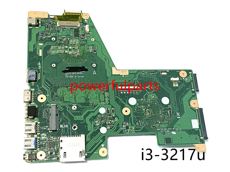 100% new for asus x451ca motherboard rev.2.1 i3-3217u on-board 90NB0330 tested ok