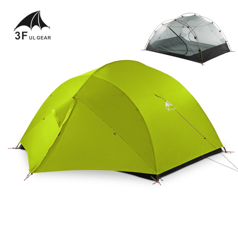 3F UL GEAR QingKong3 15D Ultralight Camping Tent Portable 3 Persons Tent Double Layer 4 Seasons Outdoor Climbing Waterproof Tent