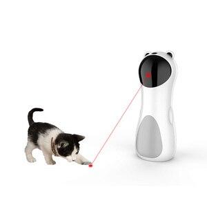 New LED Laser Funny Toy Smart Automatic Cat Exercise Training Entertaining Toy USB Charge Multi-Angle Adjustable Pet Cat
