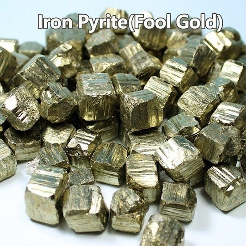 (Fool Gold)Pyrite Chalcopyrite Mineral Crystal Piedra Natural colección de especímenes de enseñanza Odd Stone OFERTA ESPECIAL
