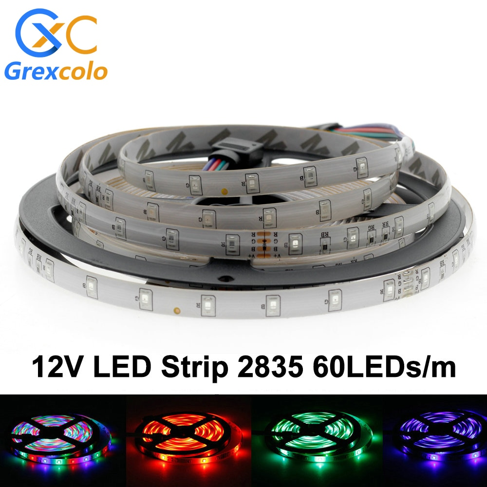 5M LED Strip Light DC12V Ribbon RGB Tape 5050 / 2835 300 LEDs Flexible Waterproof RGB/White/Red/Green/Blue
