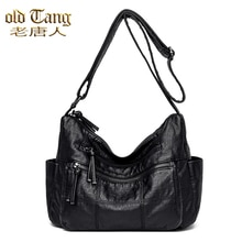 Retro Soft Leather Larger Capacity Women Shoulder Bags Crossbody Bags for Women 2021 New Luxury  Mes