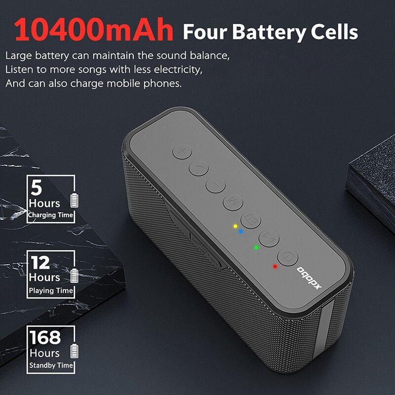 XDOBO X8 Plus لاسلكيّ Caixa De Som سمّاعات بلوتوث قابل للنقل عالي Power80W عمود مضخم صوت للهاتف المحمول شحن صندوق بوم