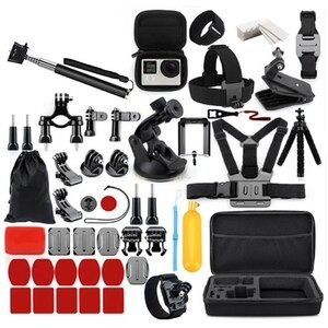 53 Pcs Accessories for Gopro Accessories Set for Hero8 7 6 Action Camera Accessories, for Outdoor Travel, for Xiaomi