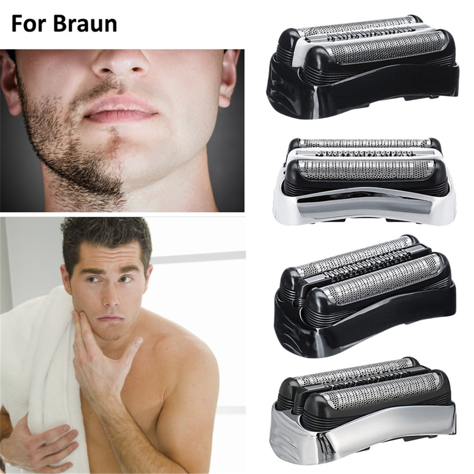 Replacement Electric Shaver Head For Braun 32B 32S 21B 21S 3 Series 300S 301S 310S 320S 330S 340S 360S 380S 3000S 3010S