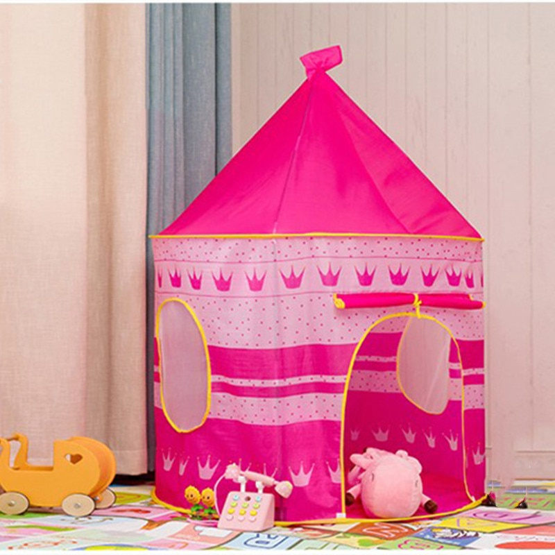 Play Tent Portable Foldable Tipi Prince Folding Tent Children Boy Cubby Play House Kids Gifts Outdoor Toy Tents Castle недорого