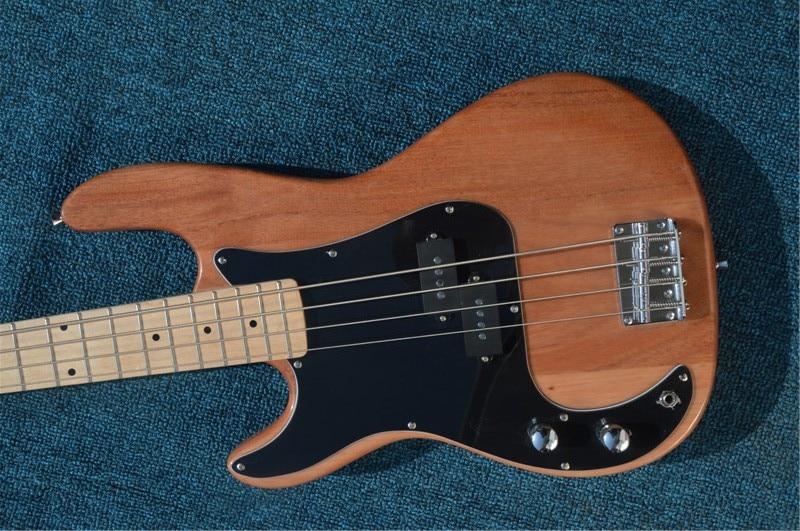 Neue Ankunft Custom Gitarre Elektrische Bass, Elektrische Bass Gitarre Burlywood 4 Saiten Bass E-gitarre, Freies verschiffen