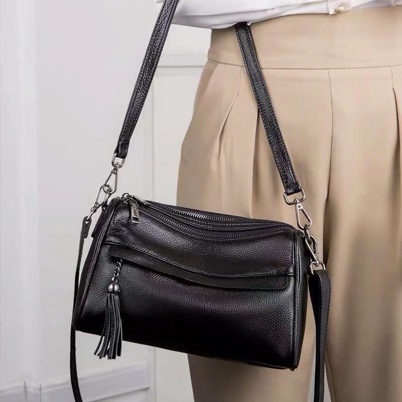 New Fashion Bags 100% Genuine Leather Shoulder Bag Womens Luxury Handbags Crossbody for Women Female Totes