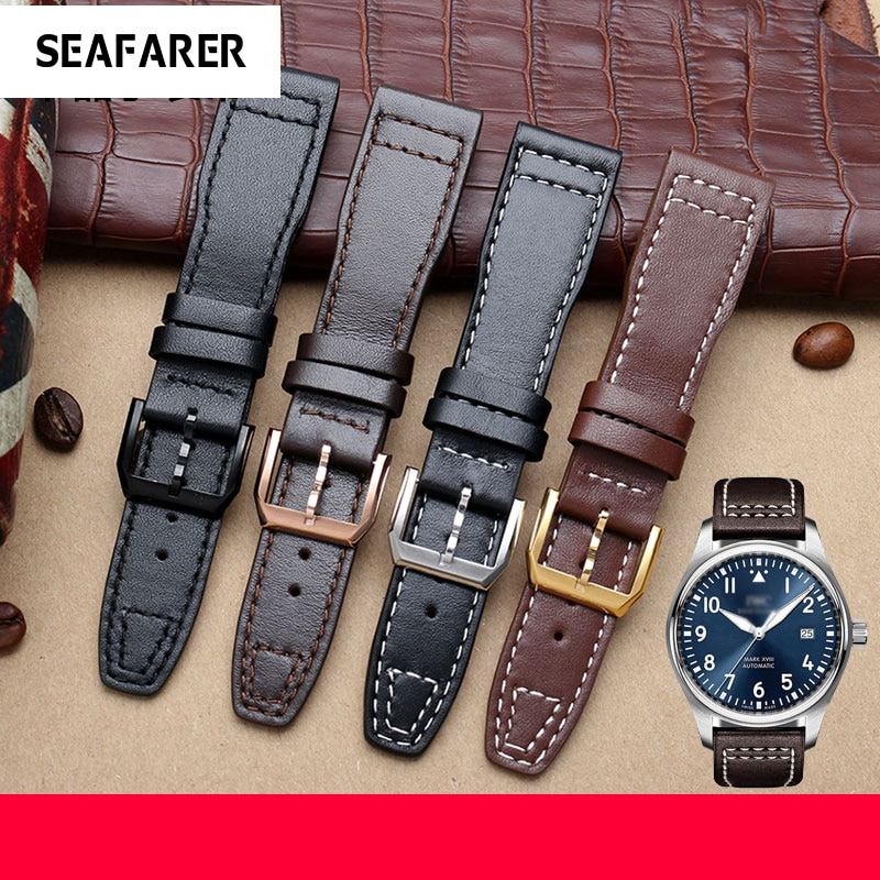 Leather Watch Strap Fit For Universal Pilot IW327004/377714 Little Prince's Special Watch Strap